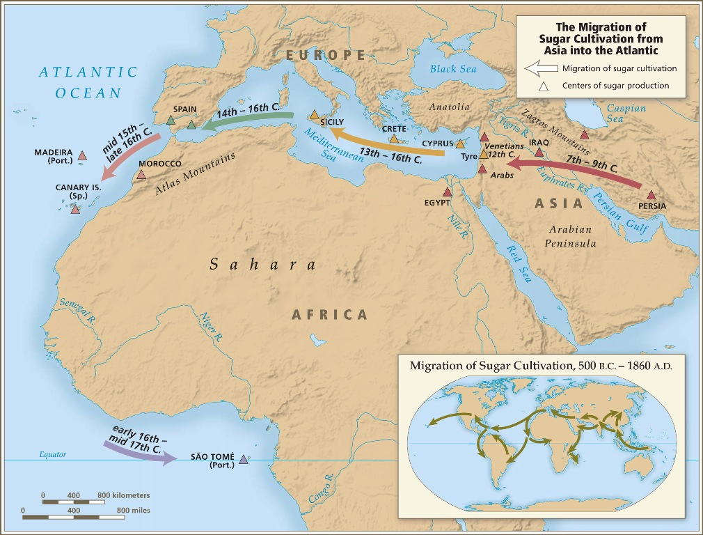 Map Of Africa During Slave Trade.Trans Atlantic Introductory Maps