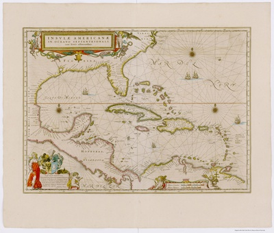 Image result for Joan Blaeu, Insulae Americanae (Amsterdam, 1662